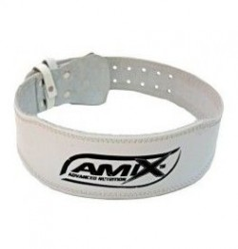 Amix Cinturón de Cuero Blanco