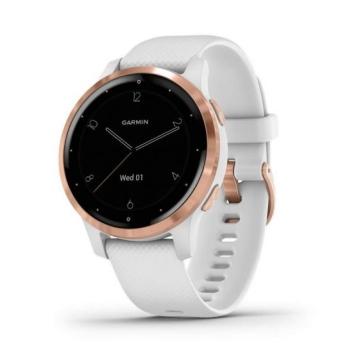 Garmin Vivoactive 4S Blanco/Oro Rosa pulsómetro-Gps