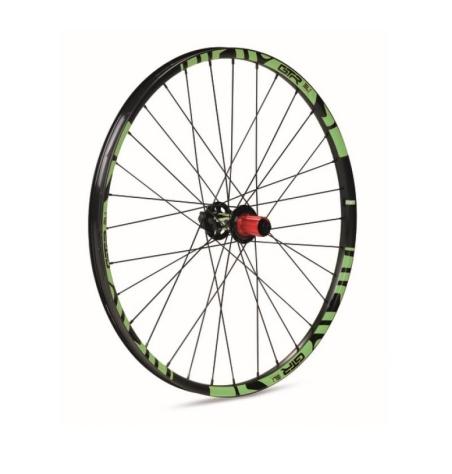 Rueda trasera Gurpil GTR SL23 núcleo Shimano 12x142mm color Negro-Verde