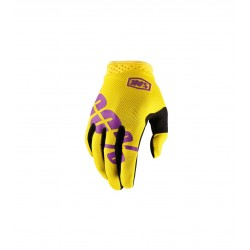Guantes 100% Itrack Neon...