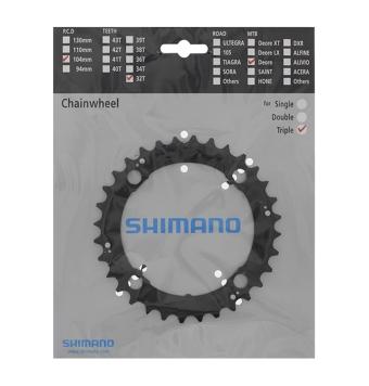 Plato Shimano Deore FC-M590/M480 32D 3X9 Negro