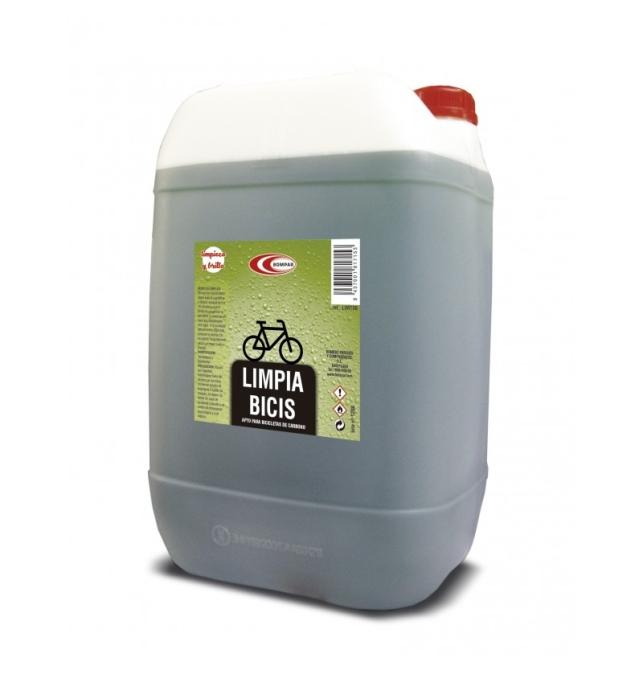 Limpia bicicletas Bompar garrafa 25L de alta calidad. A la vez que diluye la grasa, su penetrante poder ablanda toda clase de l